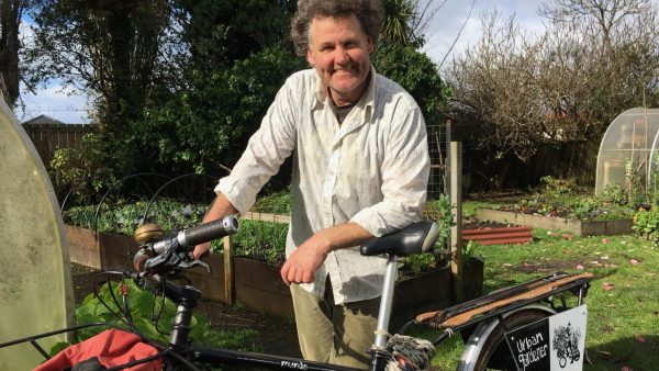 Kane Hogan on his bike @ No.37 Community Garden